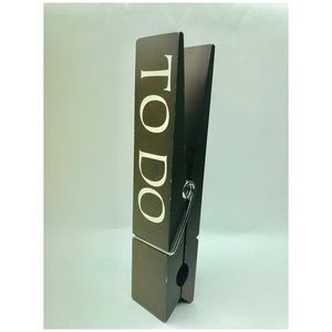 """Other - To Do large Wooden Paper Clip Office Decor 10x2"""""""